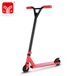 Black 200MM Inflatable Rubber Wheel Stunt Scooter, Children Stunt Scooter With PVC Handle,cheap electric kids kick scooter