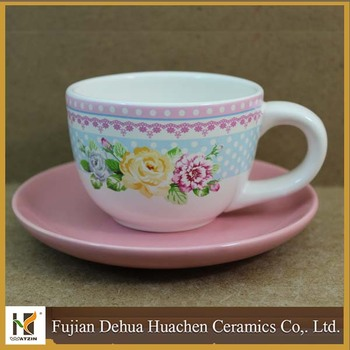 Pink Flower Design Decorative Cup And Saucer Buy Liven China Cool Decorative Cups And Saucers