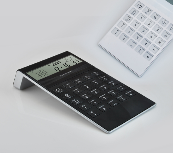 Hairong 8-digit Dual power solar calculator