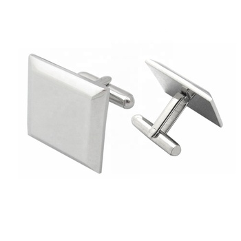 Customized Men Jewelry Silver Cufflink Birthday Gifts For Husband