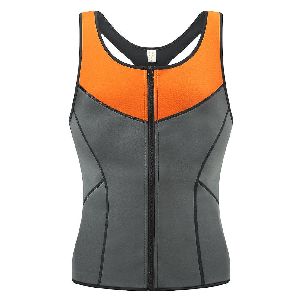 Newest Men Neoprene Sauna Suits Ultra Sweat Zipper Vest,Neoprene Thermal Shaperwear Workout Clothes