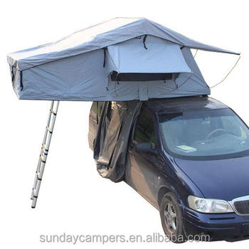 SUV Roof Top Tent With Side Awning For Camping