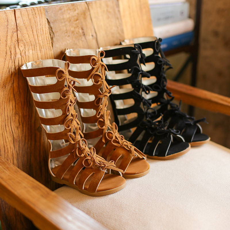 2018 New High-top Summer boots fashion Roman girls sandals kids gladiator sandals