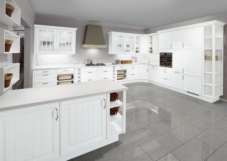 Lacado blanco esquina bar cocina microondas gabinete muebles de ...