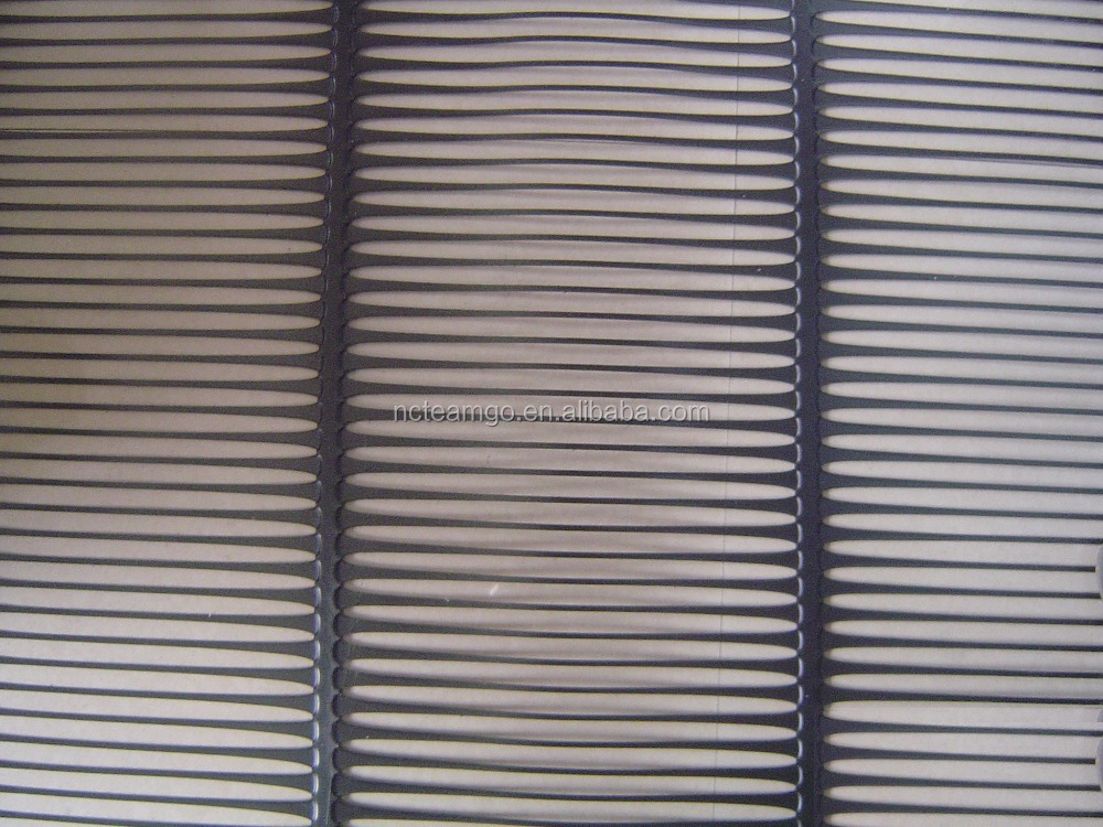 Factory price for polyethylene uniaxial HDPE geogrid/uniaxial plastic mesh grid