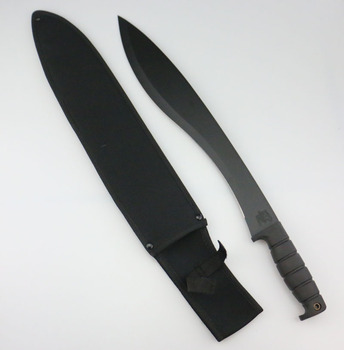 TPR plastic handle and nylon sheath for camping and outdoor 420 full tang kukri blade machete knife