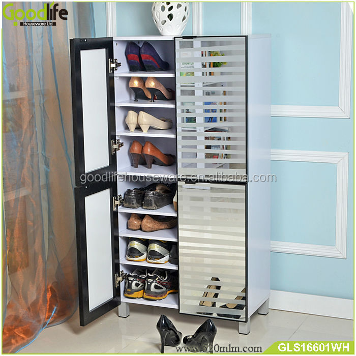Upgrade aluminum door frames wooden shoe cabinet usa