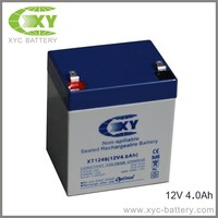 12 volt 4ah lead acid battery with blue and grey color