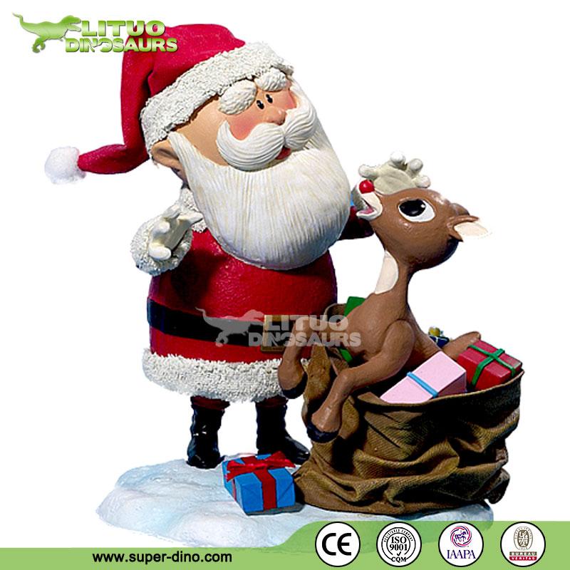 Christmas Decorations Life Size Santa: Christmas Fiberglass Life Size Santa Claus Statues