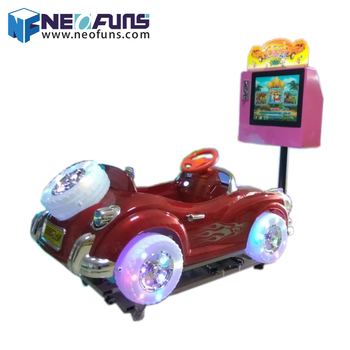 Low investment high profit coin operated car racing game machine kids car games Crazy Car 3d video game