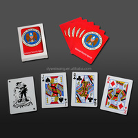 Colorful plastic playing card case for entertainment