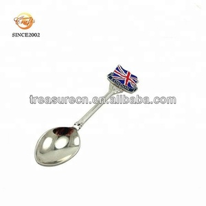 Personalized high quality zinc alloy enamel metal spoon