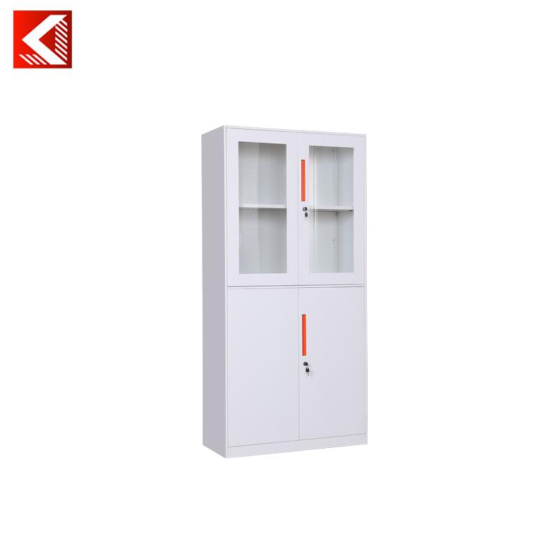 Europe Design Half Glass Door Steel File Cabinet Small Metal