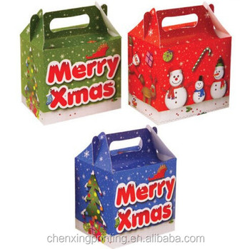 christmas party boxes food loot lunch cardboard gift kids buy