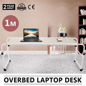 Mobile Overbed Trolley Computer Table Laptop Ipad Study Hospital Hall Desk  Adjustable