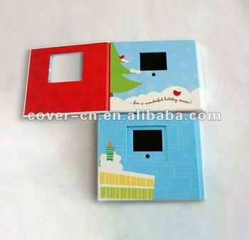 Long time hotsale LCD Greeting Card,video in print for promotion gift