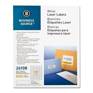 "Business Source Mailing Labels,Return Address,Laser,1/2""X1-3/4"",8000/Pk,We - Business Source Mailing Labels,Return Address,Laser,1/2""X1-3/4"",8000/Pk,Weuse Labels To Address Envelopes And Packages. La"