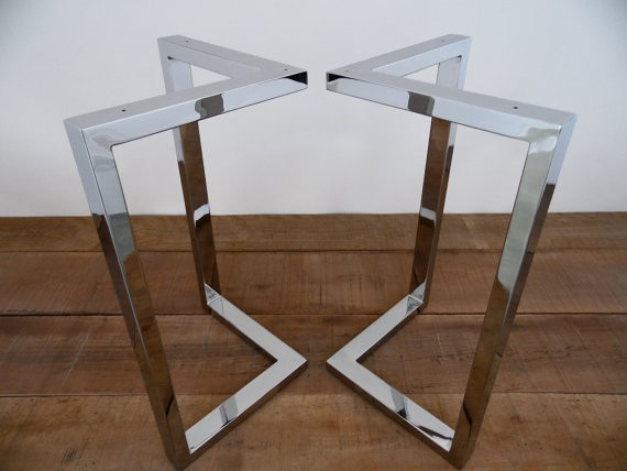 Metalen tafelpoot voor ronde tafel handgemaakte industriele