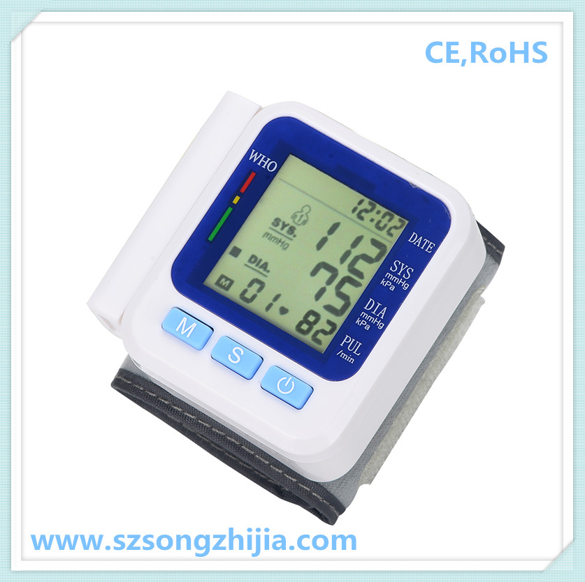 professional wrist blood pressure monitor digital bpm,machine with CE,RoHs,ISO