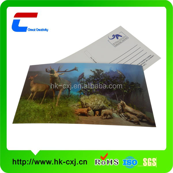 plastic 3d lenticular sheet for cards
