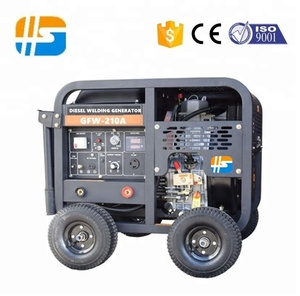 180A-600A portable diesel welding generator applicable 2.0mm-8.0mm Electrode