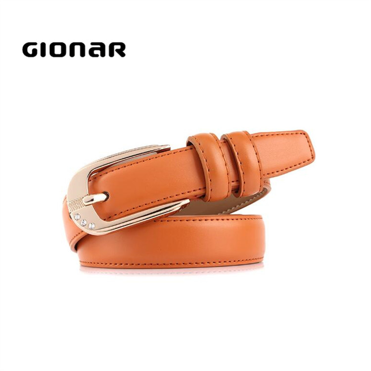 Korean Fashion Purchase Online Small Women Tan Leather Dress Clothing Belt