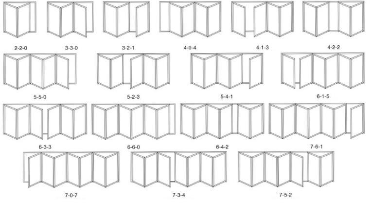 product-Zhongtai-Top Quality Powder CoatingAluminum With Double Tempered GlazingBi Folding Door-img-3