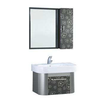 Mirrored Modern Wall Mounted Stainless Steel Ss Bathroom Vanity
