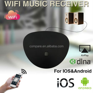 Compare DLNA Airplay multi-room wifi wireless music streaming receiver