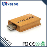 Book Shaped Wooden Gift Box Branded Custom Logo 3.0 2Gb 128Gb 500Gb 512Gb Pen Usb Flash Drive Wholesale In Dubai