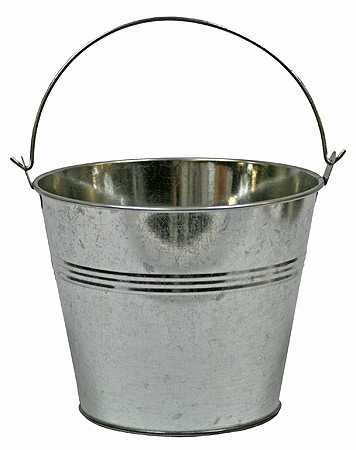 buy set of 2 galvanized metal pail buckets size 6 tall x 7 3 4