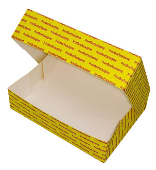 Cost-Effective 6 Corner Glued One Piece Carton Fast Food Packaging Chicken Box