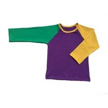 Фиолетовые, зеленые и золотые комплекты одежды в горошек на заказ для младенцев Детские леггинсы и реглан, комплекты для Нового Орлеана, Мар...(Китай)
