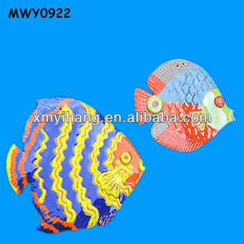 Colorful Fat Fish Design Wall Hanging Craft For Kids Buy Wall