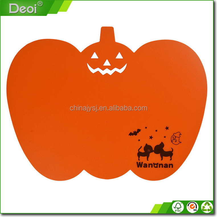 2016 New Fresh PP Kitchen Anti-slip Thin Cutting Board/Chopping Block Mat with pumpkin shape