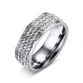 Stainless steel jewelry Mens stainless steel cz rings Stainless steel crown ring