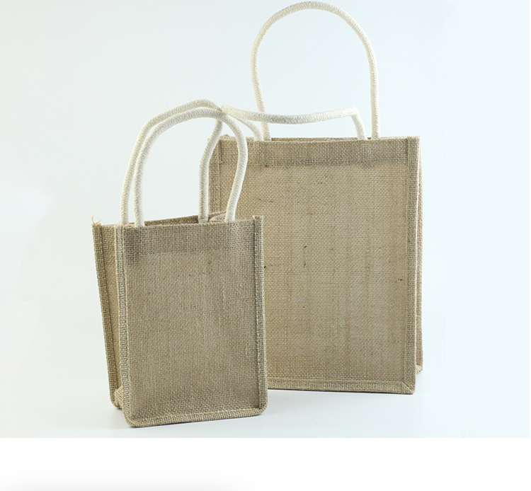 custom handle burlap  jute bag with shopping