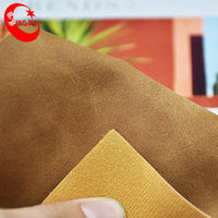 Tanned Imitation Cow Nubuck PU Vegan Leather for shoe for bag