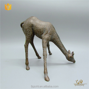 Ed12696a Home Decor Polyresin Craft African Animal Figurines Resin Giraffe Statue Gift