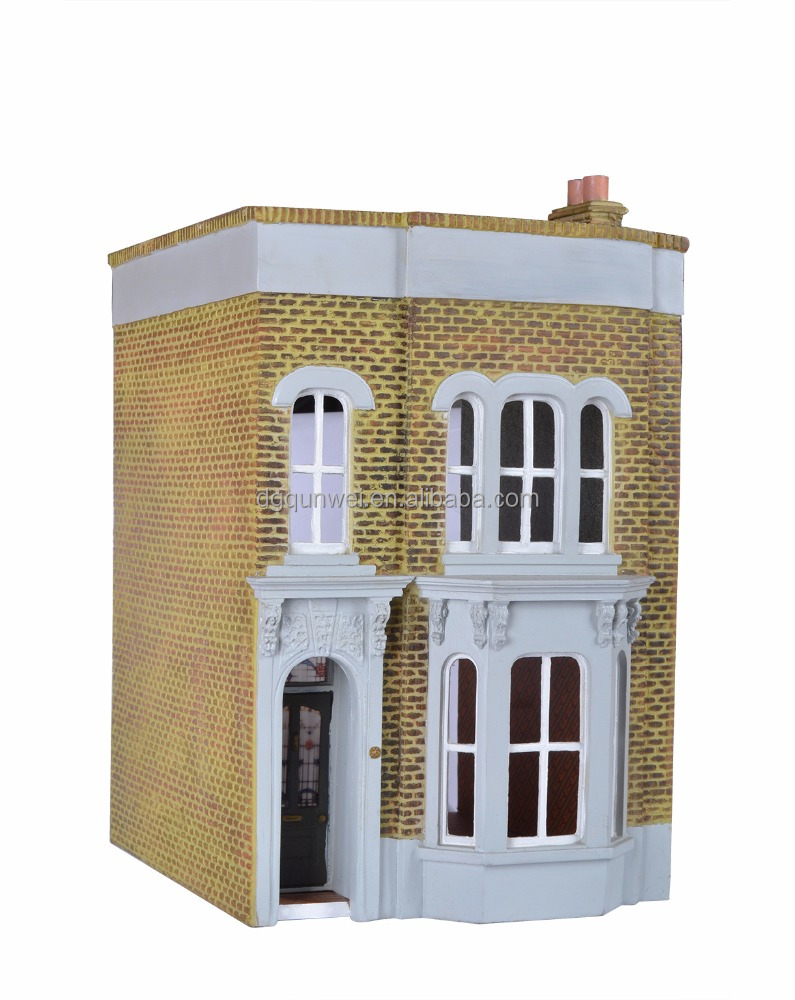 Luxury Traditional Victorian Mansion Charming Multi-Level/Story Wooden Dollhouse Miniature Furniture