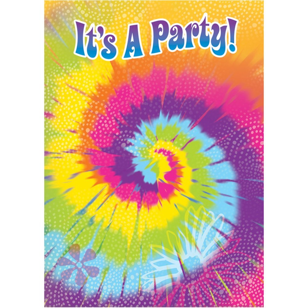 get quotations tie dye swirl invitations 8ct