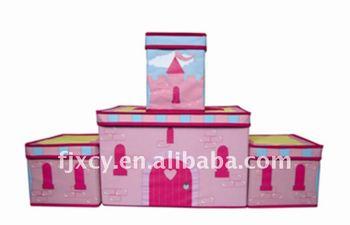 Non-woven folding castle storage box for kid  sc 1 st  Wholesale Alibaba & Non-woven Folding Castle Storage Box For Kid - Buy Kids Art Storage ...