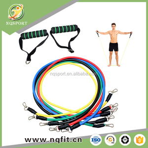 Gym equipment natural latex resistance fitness band for full body workout
