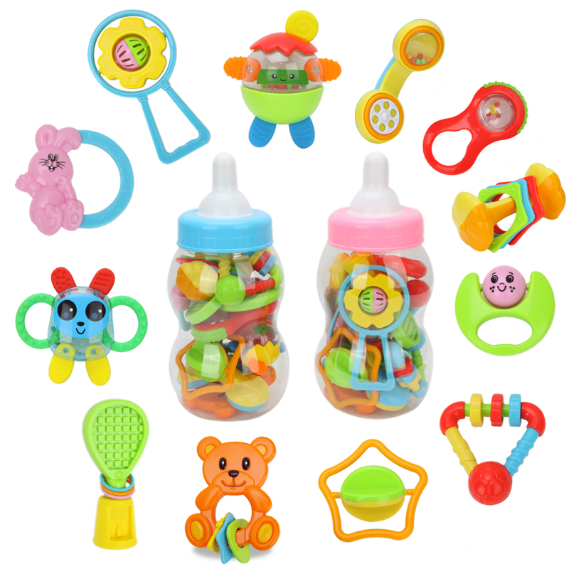 Free shipping Cheer G large bottle rattles teethers 1 ...