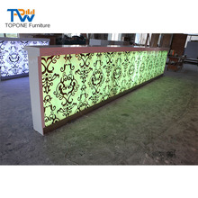 OEM Artificial Marble Led Bar Counter Top Bar Furniture Design