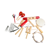 Kleinkind Pädagogisches Musical Percussion für Kid Musical Instrument <span class=keywords><strong>Holz</strong></span> Orff Percussion Set 17 Pcs