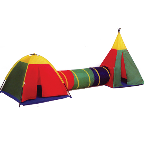 H3pcs uge Tunnel Two Kids Play Tent House New teepee tent kids Good Gifts