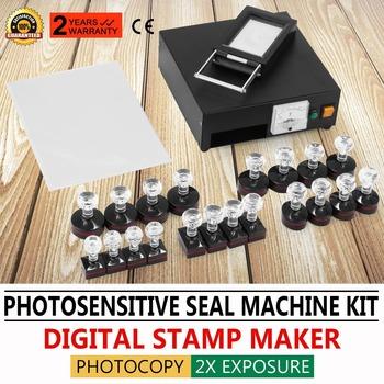110V Photosensitive Portrait Flash Stamp Machine Kit Self Inking Stamping Making