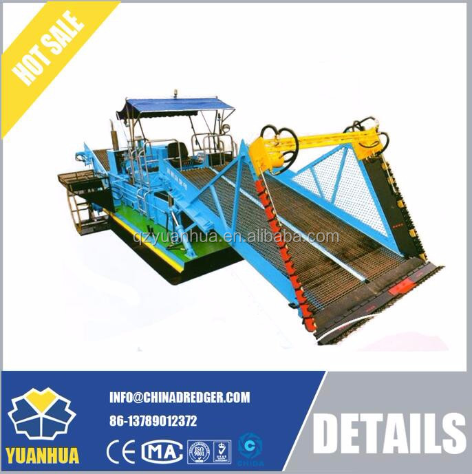 water plants cutting machine - aquatic weed harvest protecting river machine
