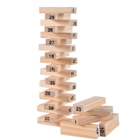 Baby Toys Family Game Wooden Stacking Tower Digital Building Blocks Popular Game Education Gift